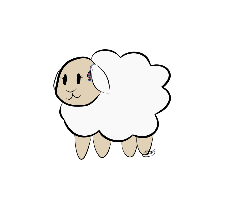 Femja the sheep by EyyGreenBean