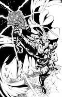 Thor ink by INKER-GUY by werder