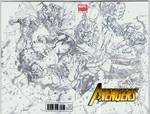 Avengers vs Thanos sketch covers