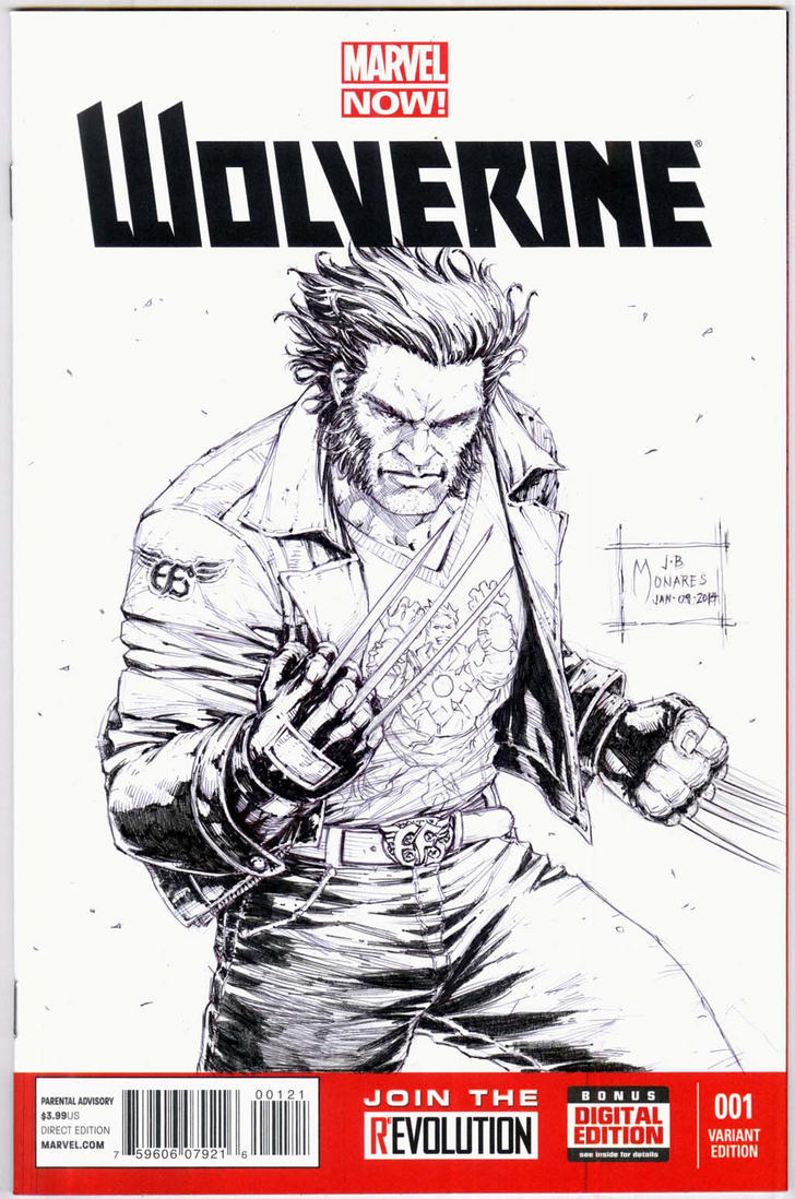 Book Cover Art Commission : Wolverine blank cover commission by werder on deviantart