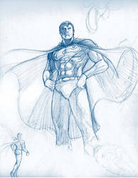 Another Superman sketch by werder