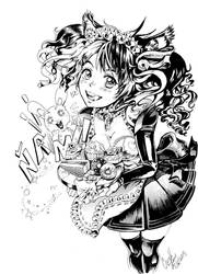 Neko maid ink by AngelaLara