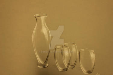 carafe with drinking glasses