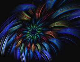 Peacock flower by eReSaW