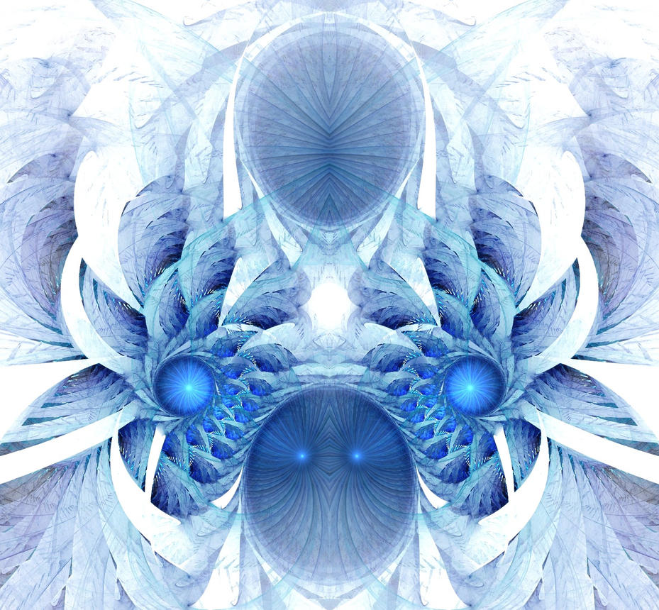 Blue Ice Flower by eReSaW