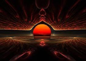 Sunset at Lake Yuron on Vulcan by eReSaW