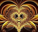 Golden Valentine Heart