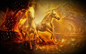 Golden horses by eReSaW