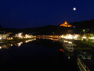 The moon, the castle and the river by eReSaW