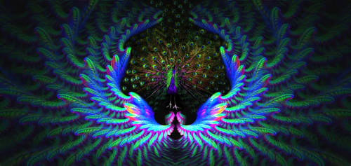 Peacock in  heaven by eReSaW