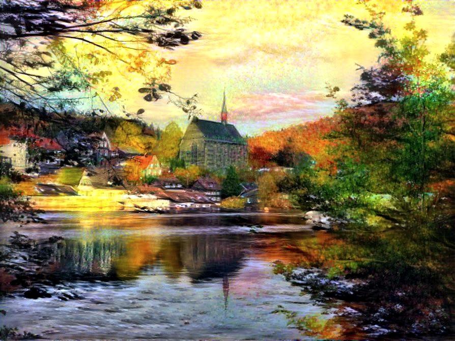 Autumnsun at the Monastery church