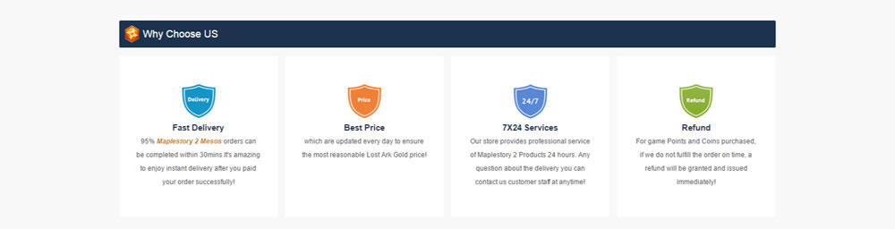 MS2Store screenshot why choose us