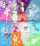 Galilean Knights Henshin Poses