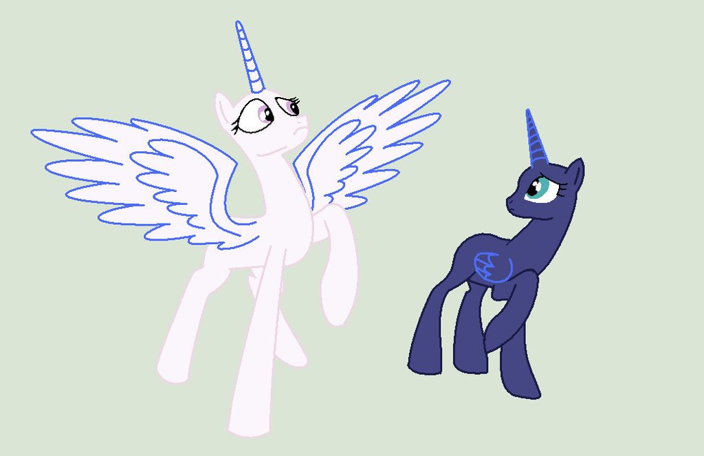 Alicorn Pony Base By Alari1234-Bases On DeviantArt