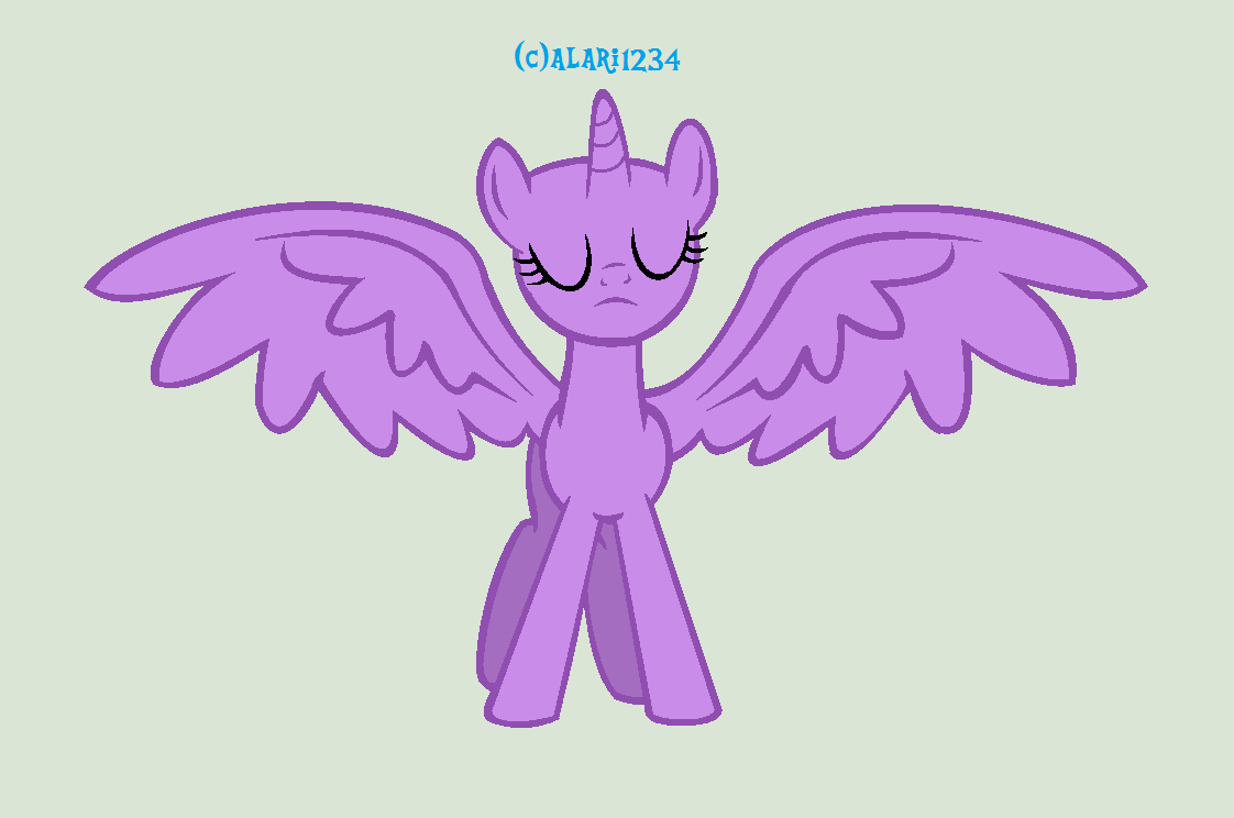 Become An Alicorn Pony Base By Alari1234-Bases On DeviantArt