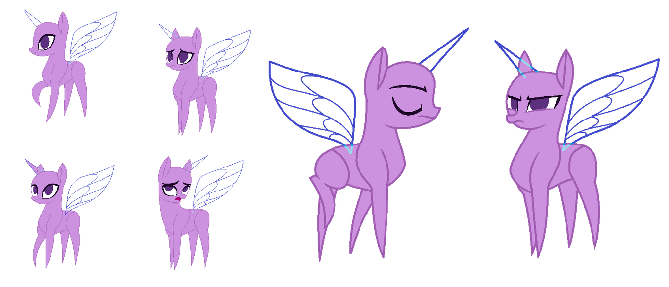 Mlp base paper ponies by alari1234 bases on deviantart