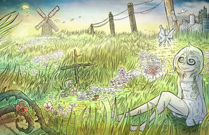 Lute in the meadow.