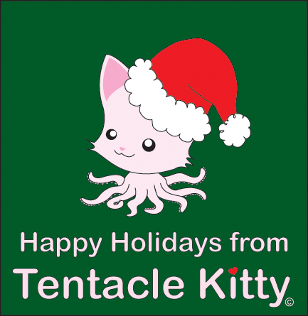 Holiday Tentacle Kitty by TentacleKitty