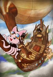 Steampunk Tentacle Kitty by TentacleKitty