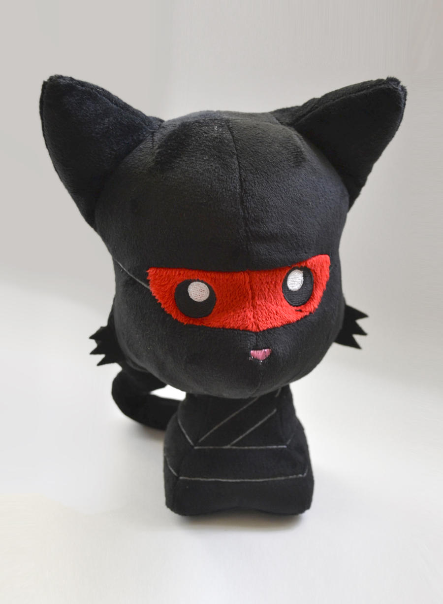 Ninja Kitty Plush by TentacleKitty