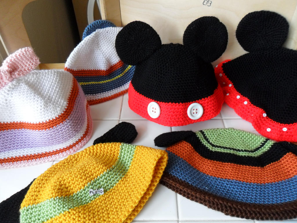 Disney Beanies by AppleJuiceJadeDear