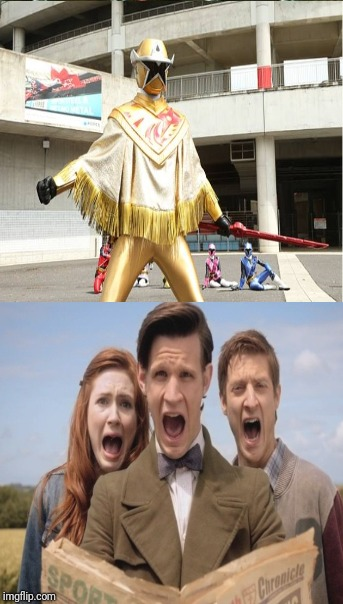 The Doctor, Amy, and Rory are scared of Starninger by RedWesternRanger