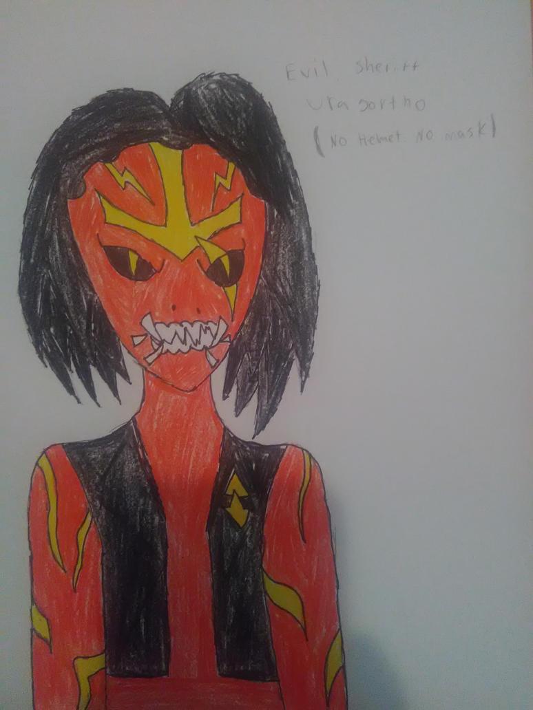 Evil Sheriff Uragortho (No helmet. No Mask) by RedWesternRanger