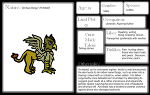 Bridleton Character App: Archibald the Griffin