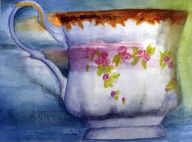Nimble Teacup Painting #3 by kellytakespictures