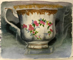 Nimble Teacup Painting #5 by kellytakespictures