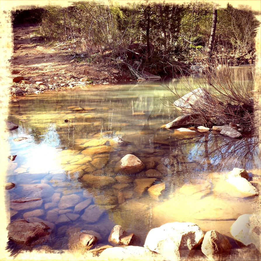 Rocks in the Creek by mom2Ethan-Logan