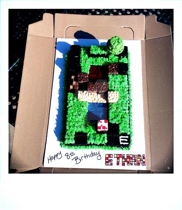 Minecraft cake  by mom2Ethan-Logan
