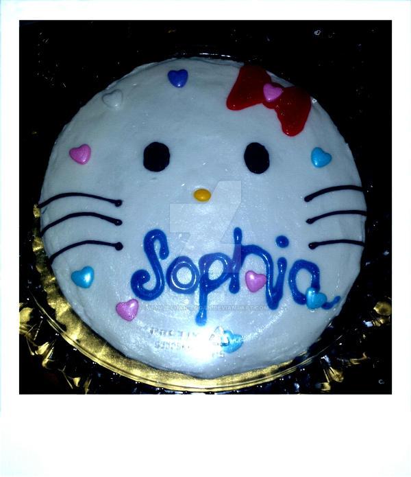 Hello Kitty cake by mom2Ethan-Logan