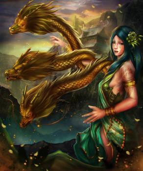 Green Summoned Dragon