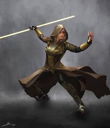 Jedi Female 1 - Concept Design by Ron-faure