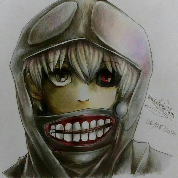Ken kaneki  by one-otaku-man