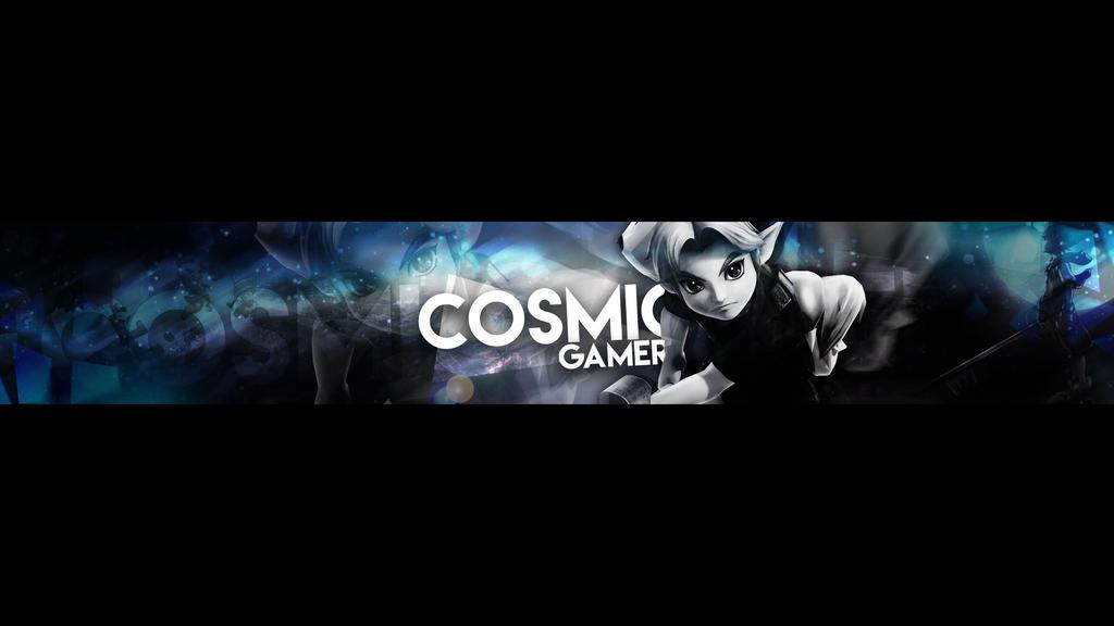 Pubg Text Wallpaper: Cosmic Gamer YouTube Banner By StarfallARTS On DeviantArt