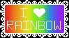 I Love Rainbow Stamp! by Dragonslayer999