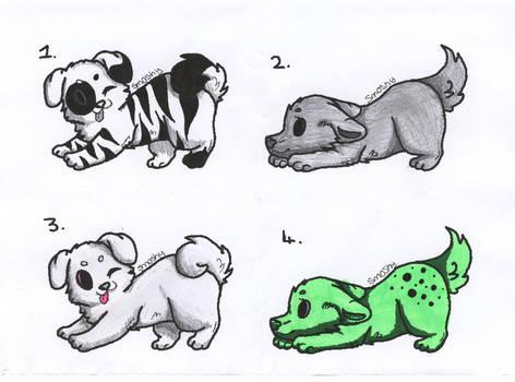 Puppy Adoptables 01 [2/4 OPEN]