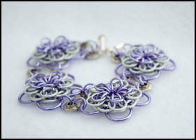 Dahlia Bike Part Chain Maille Bracelet 1 by FeMailleTurtle