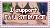 Stamp I support fan service by Hemno