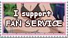 Stamp I support fan service by Hemno