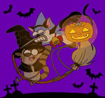 Mordecai and RIgby Halloween