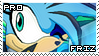 Frigid the Hedgehog Stamp by RecklessKaiser