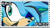 Frigid the Hedgehog Stamp by RecklessKaiser