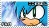 Diesel the Hedgehog Stamp by RecklessKaiser