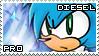 Diesel the Hedgehog Stamp by RecklessKaiser
