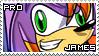 James the Hedgehog Stamp by RecklessKaiser