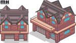 Tile isometric | Rustic house