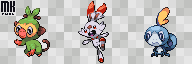 Sprite | Initial 8th generation Pokemons by MichaKing